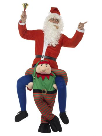 Piggyback Elf Costume, Green