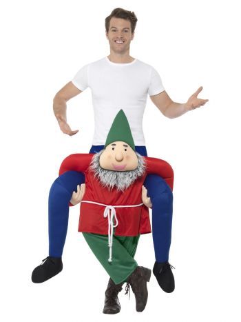 Piggyback Gnome Costume, Green