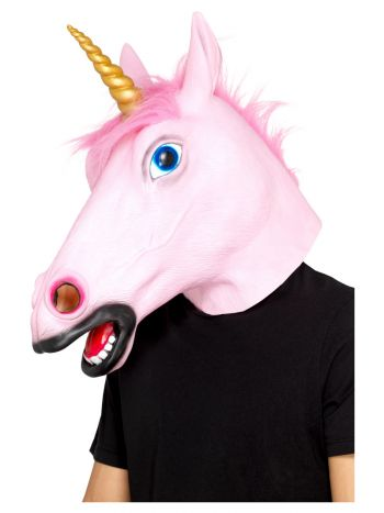 Unicorn Latex Mask, Pink