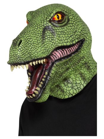 Dinosaur Latex Mask, Green