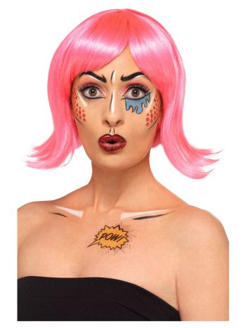Smiffys Make-Up FX, Pop Art Kit, Aqua, Multi-Colou