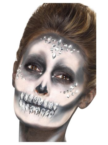 Smiffys Make-Up FX, Jewel Face Gems, Silver