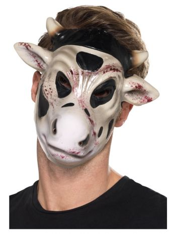 Evil Cow Killer Mask, White