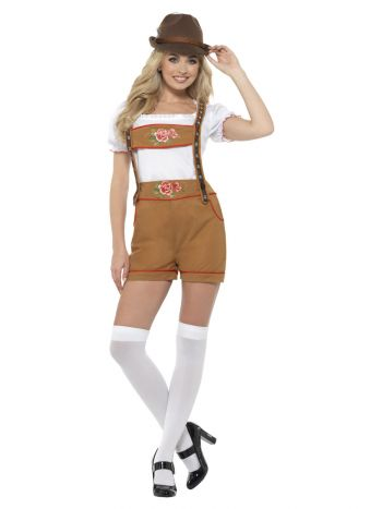 Sexy Bavarian Beer Girl Costume, Brown