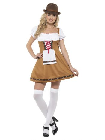 Bavarian Beer Maid Costume, Brown