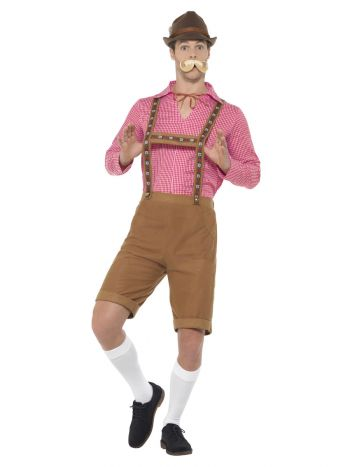 Mr Bavarian Costume, Red & Brown