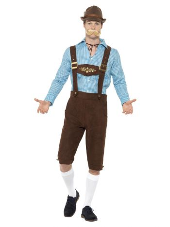 Beer Fest Costume, Blue & Brown
