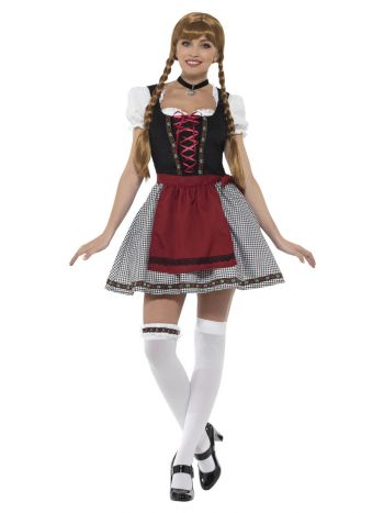 Flirty Fräulein Bavarian Costume, Black