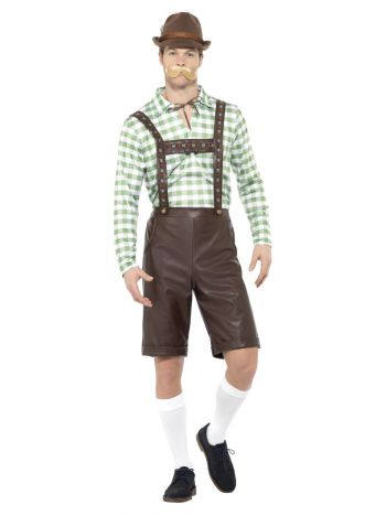 Bavarian Man Costume, Green & Brown