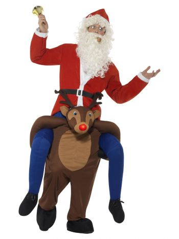 Piggyback Reindeer Rudolf Costume, Brown