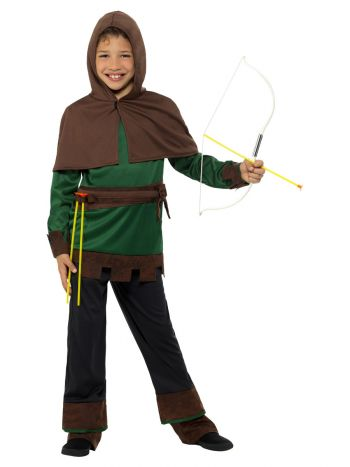 Robin Hood Costume, Green & Brown
