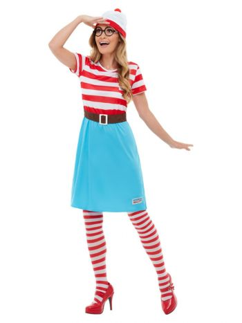 Where's Wally? Wenda Costume, Red & White