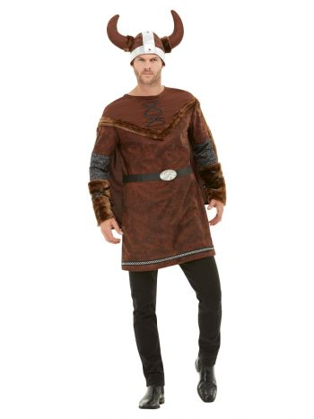 Viking Barbarian Costume, Brown
