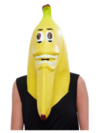 Banana Latex Mask, Yellow