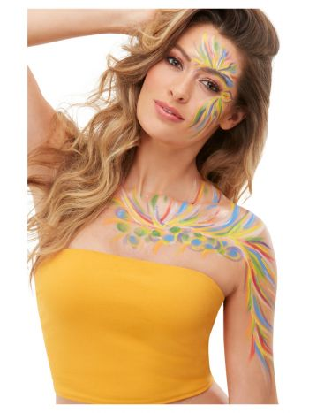 Smiffys Make-Up FX, Rainbow Festival Kit,