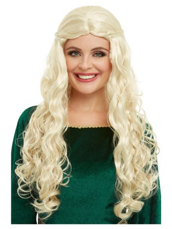 Medieval Dragon Goddess Wig, Blonde