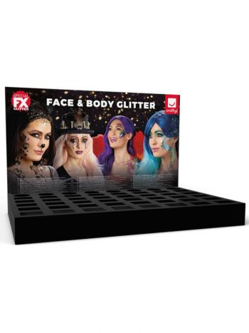Smiffys Make-Up FX, Glitter Counter Display Unit