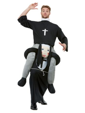 Piggyback Nun Costume, Black