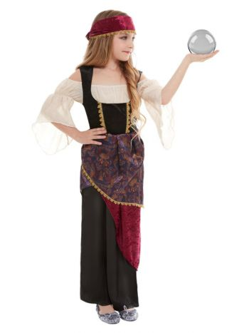 Deluxe Fortune Teller Costume, Multi-Coloured