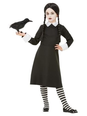 Gothic School Girl Costume, Black