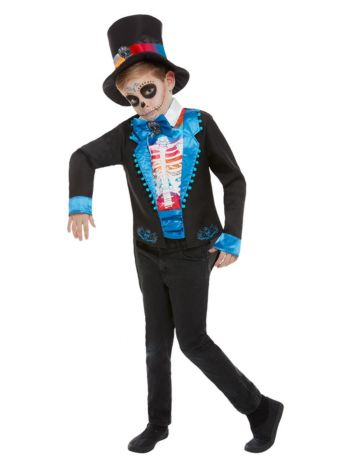 Day of The Dead Boy Costume, Multi-Coloured
