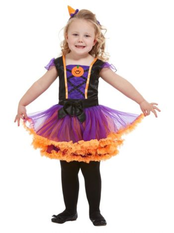 Toddler Pumpkin Witch Costume, Orange