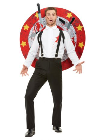 Deluxe Knife Thrower Costume, Red & White