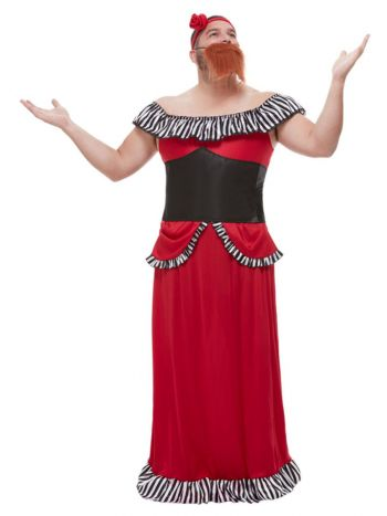 Bearded Lady Costume, Red