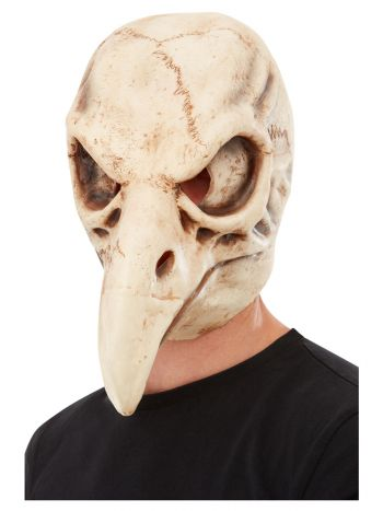 Bird Skull Latex Mask, White