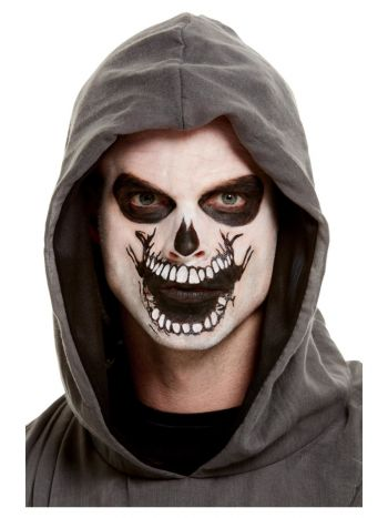 Smiffys Make-Up FX, Skeleton Mouth Face Transfer,