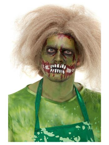 Smiffys Make-Up FX, Zombie Face Transfer, Green