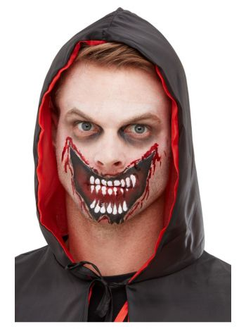 Smiffys Make-Up FX, Slashed Mouth Kit, Aqua, Red