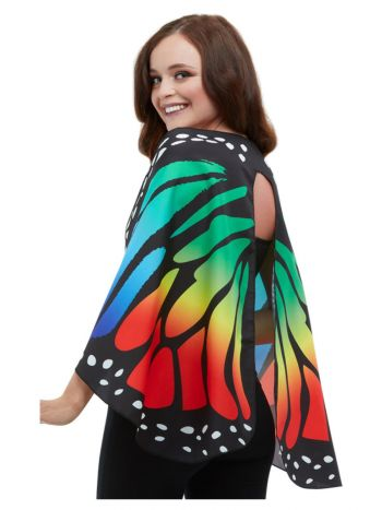 Monarch Butterfly Fabric Wings, Multi-Coloured
