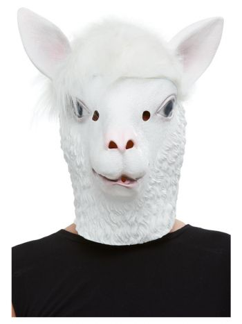 Llama Latex Mask, White