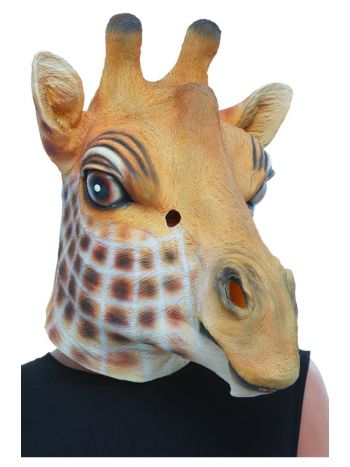 Giraffe Latex Mask, Brown