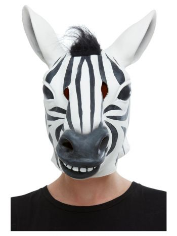 Zebra Latex Mask, Black & White