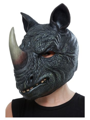 Rhino Latex Mask, Grey