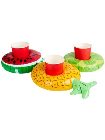 Inflatable Fruit Drink Holders, Assorted