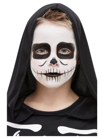 Smiffys Make-Up FX, Kids Skeleton Kit, Aqua, Black