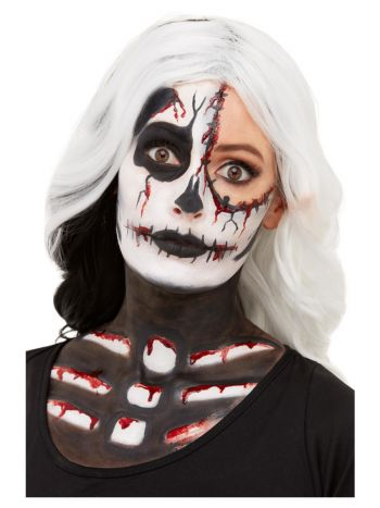 Smiffys Make-Up FX, Skeleton Kit, Aqua, Black & Wh