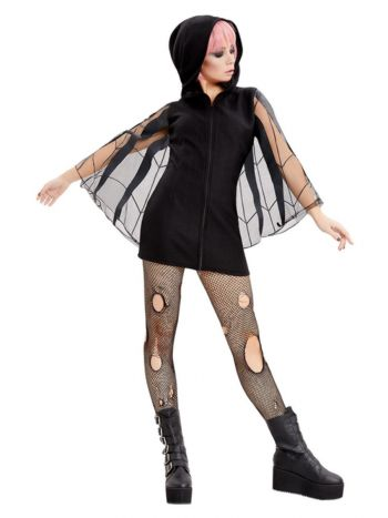 Spider Zip Up Jumper Dress