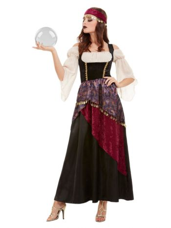 Deluxe Fortune Teller Costume, Black
