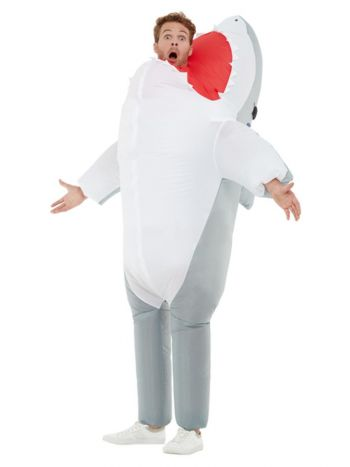 Inflatable Shark Attack Costume, Grey