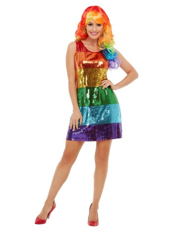 All That Glitters Rainbow Costume, Multi-Coloured