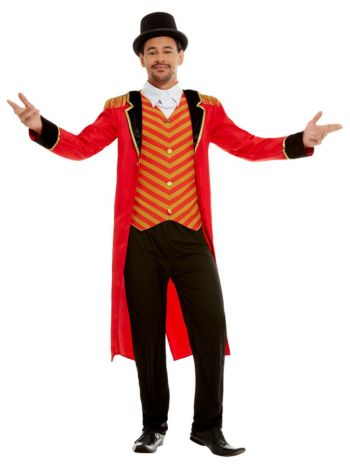 Deluxe Ringmaster Costume, Red