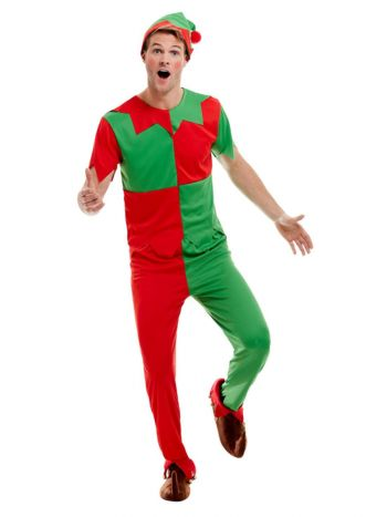 Elf Costume, Green & Red