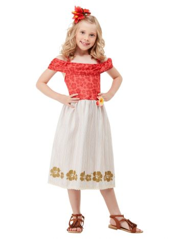 Hawaiian Princess Costume, Red