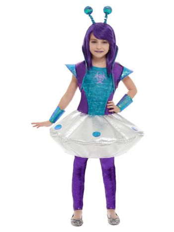 Alien Girl Costume, Silver