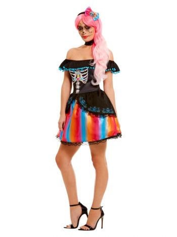 Day of the Dead Senorita Ombre Costume, Black