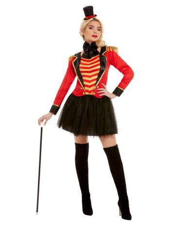 Deluxe Ringmaster Lady Costume, Red